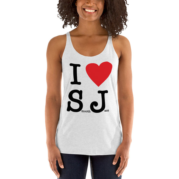 I Love Smooth Jazz - Women's Racerback Tank (SJS Exclusive)