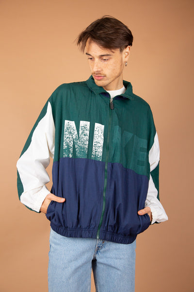 Green, Navy and white jacket with Faded
