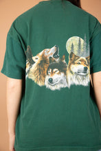 Load image into Gallery viewer, model wearing wolf tee, magichollow