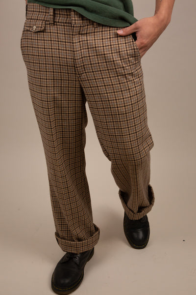 Brown Plaid pants