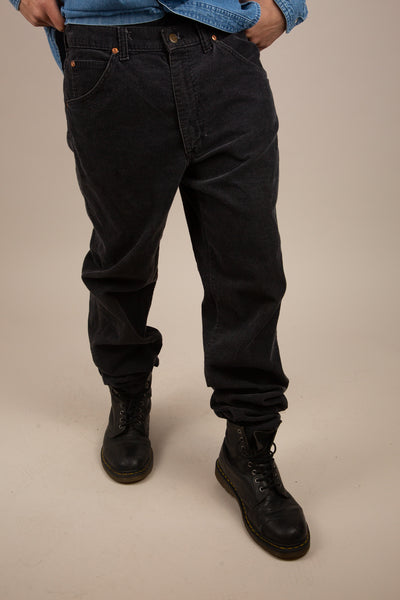 faded black lee corduroy pants - vintage by magichollow