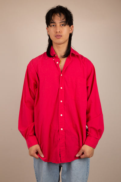 Hot Pink Button-Up