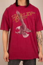 Load image into Gallery viewer, Model wearing Harley Davidson Tee, magichollow