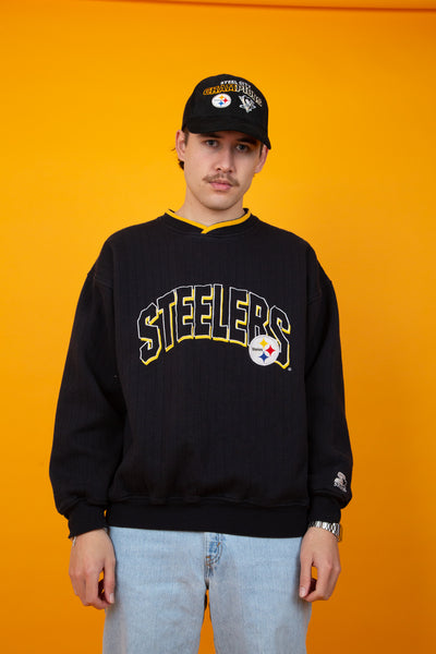 Vintage steelers sweater in black. shop now. magichollow
