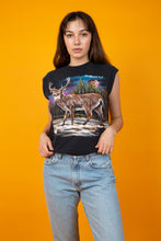 Load image into Gallery viewer, Girl wearing vintage nature shirt