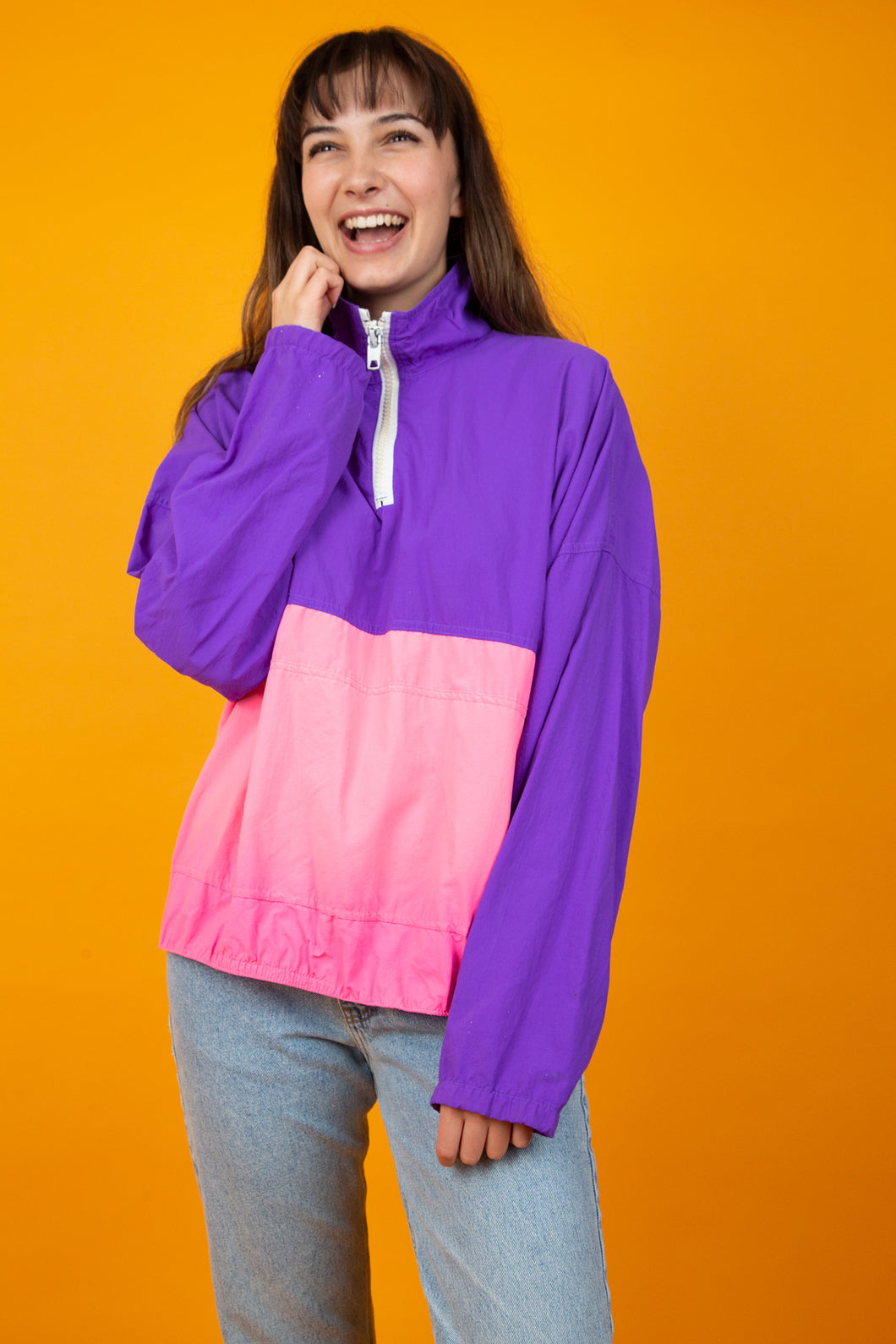 Retro Pink and Purple Runners Jacket from magichollow