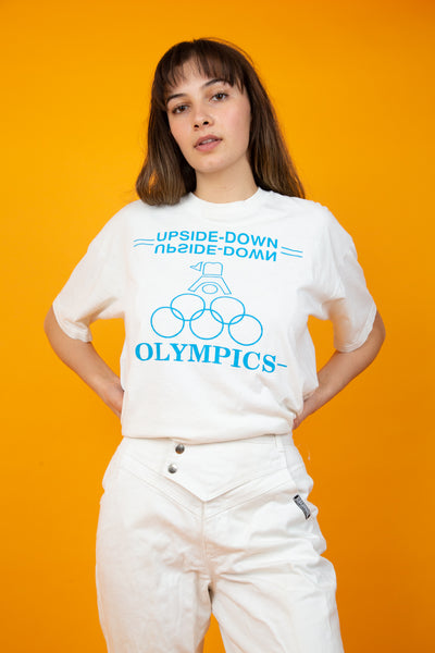 Distressed Upside Down Olympics Tee