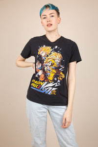 model wearing DBZ tee, magichollow