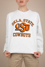 Load image into Gallery viewer, Model wearing Oklahoma State University sweater, magichollow