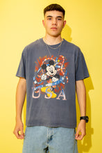 Load image into Gallery viewer, Distressed Mickey Usa Tee
