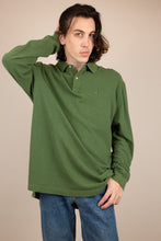Load image into Gallery viewer, green tommy hilfiger ls polo. 90s vintage. magichollow.