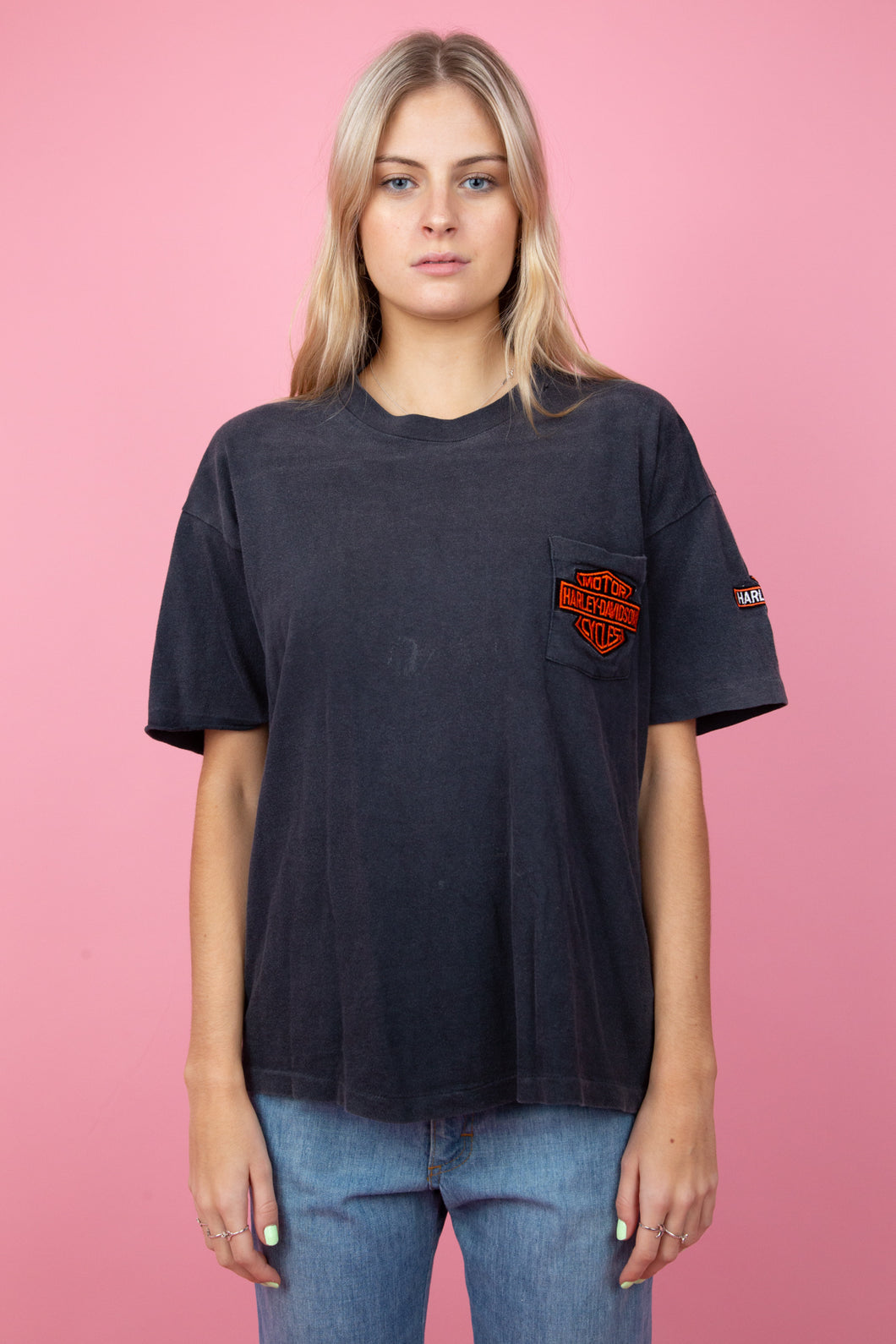 black faded harley davidson tee. magichollow