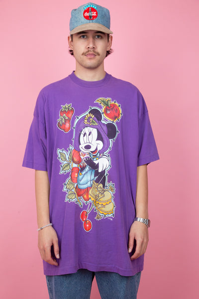 Purple minnie mouse vintage graphic tee. 90s vintage disney. magichollow