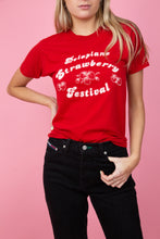 Load image into Gallery viewer, red strawberry tee. single stitch. 90's vintage. magichollow