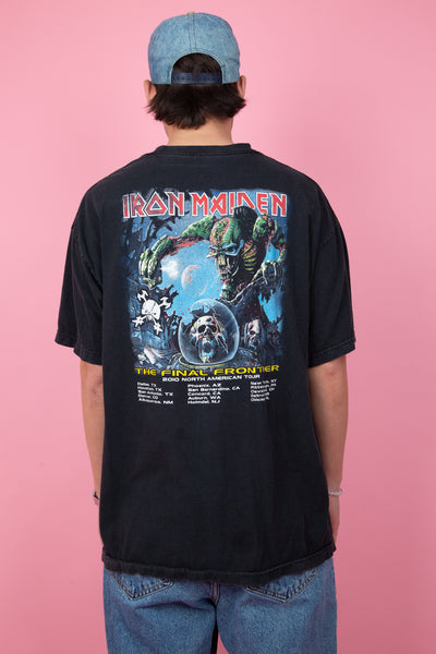 2010 black iron maiden concert tee with front and back graphic - magichollow