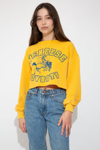Load image into Gallery viewer, model wearing yellow cropped sweater, magichollow
