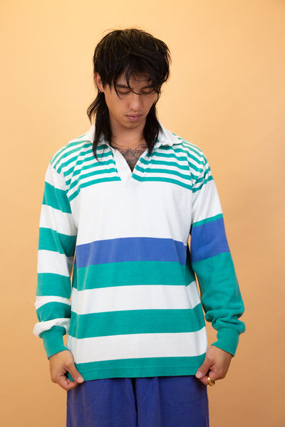 lands end rugby jersey. 90s vintage. magichollow.