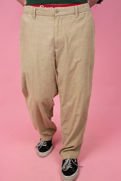 vintage corduroy pants in a light brown colour-way. shop now. magichollow
