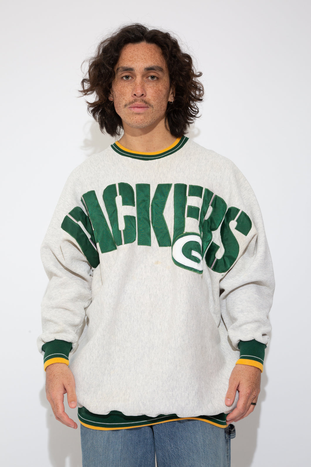 packers nfl sweater. 90s vintage. magichollow.