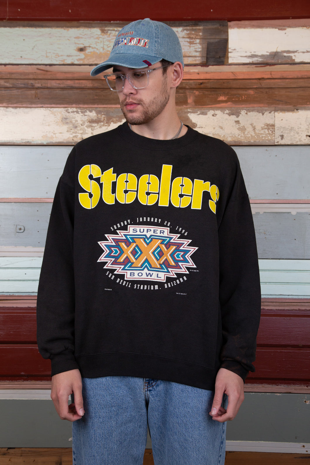 steelers sweater in a white colour-way. magichollow.