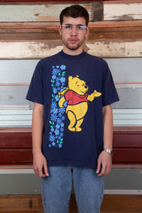 winnie the pooh tee in a navy blue colour-way. magichollow.