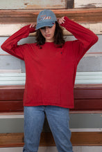 Load image into Gallery viewer, red ralph lauren long sleeved tee. vintage at magichollow
