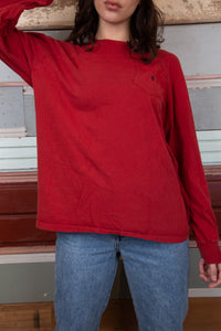red ralph lauren long sleeved tee. vintage at magichollow