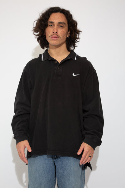 nike ls polo. 90s vintage. magichollow.