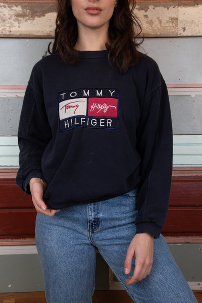 Model wearing Tommy Hilfiger Sweater, magichollow