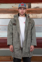 Load image into Gallery viewer, khaki denim jacket. 90s vintage. magichollow.