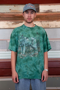 Distressed Tie-Dye Wolf Tee