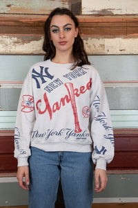 Model wearing NY Yankess Sweater, buy now from magichollow
