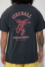Load image into Gallery viewer, fireball whisky graphic tee. 90s vintage. magichollow.