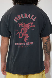 fireball whisky graphic tee. 90s vintage. magichollow.