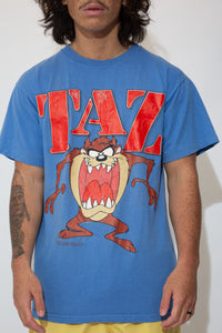 mickey X looney tunes tee in blue. 90s vintage. magichollow.å