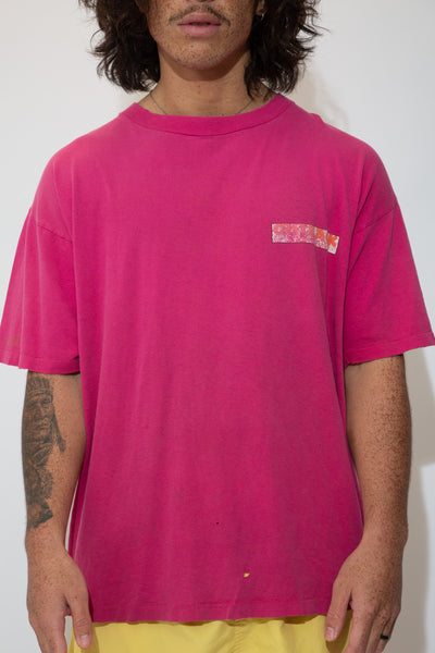 no rules tee in a pink colour-way. 90s vintage. magichollow.