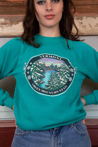 model wearing vermont sweater, magichollow