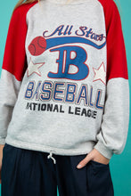 Load image into Gallery viewer, model wearing baseball Sweater, magichollow