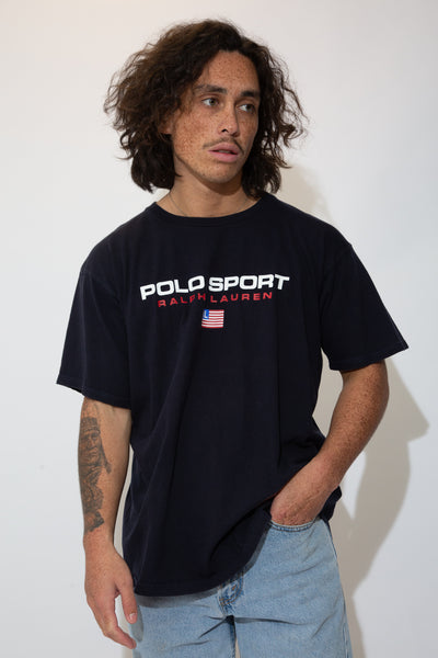 polo sport spell out tee. 90s vintage. magichollow.