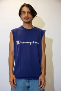 Distressed Champion Muscle Tee