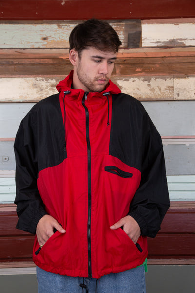 red and black marlboro jacket