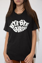 Load image into Gallery viewer, Black in colour with a large white print of Bye Bye Birdie in the shape of lips on the front. Crewneck style with a baggy fit.