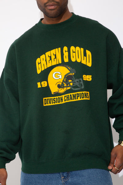 Green & Gold Sweater