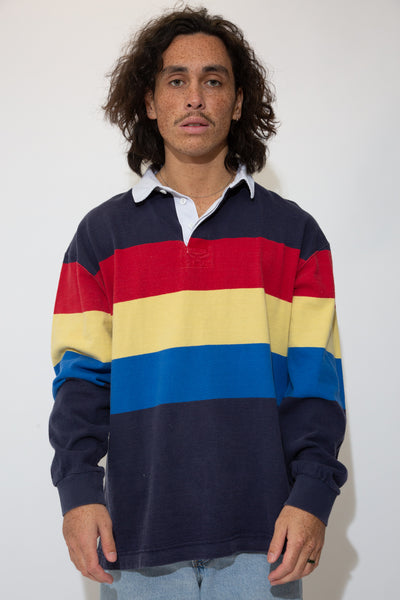 striped rugby jersey. 90s vintage. magichollow.