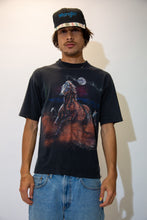 Load image into Gallery viewer, Black in colour with a large colour print of horses running in the moonlight, this tee is vibing with some elevated shit. Dated 1993 below.
