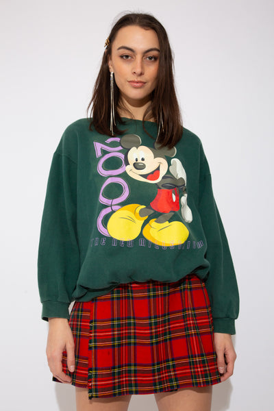 model wearing Mickey sweater, magichollow