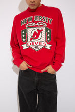 Load image into Gallery viewer, new jersey devils sweater. 90s vintage. magichollow!