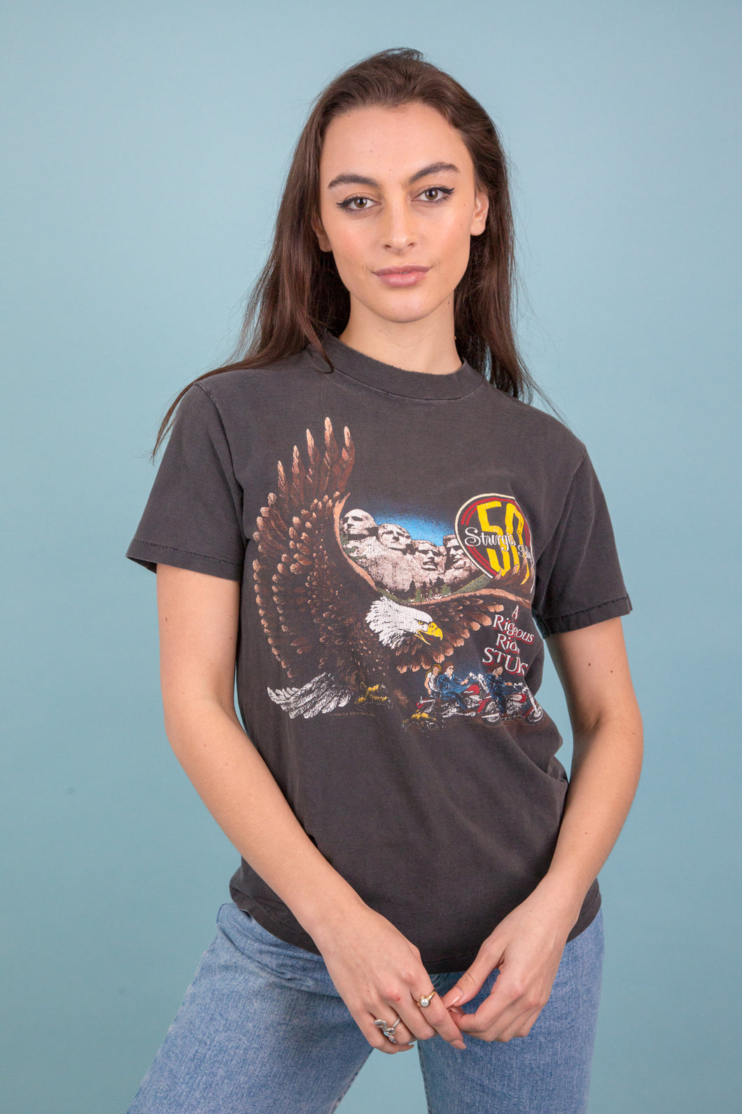 1988 Distressed Sturgis Harley Tee