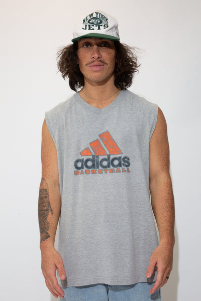 adidas muscle tank in grey. 90s vintage. magichollow.