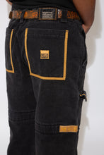 Load image into Gallery viewer, M+FG Jeans in a black and brown colour-way. 90s vintage. magichollow.